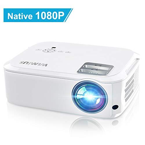 Vidéoprojecteur, WiMiUS 6000 Lumens Vidéo Projecteur Full HD 1920x1080P Natif Rétroprojecteur...