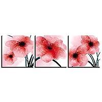 ファッション キャンバス写真アート3ピース抽象的な花ポスターの装飾リビングルームの壁HD印刷絵画フレームワーク 40x40cmx3pcs
