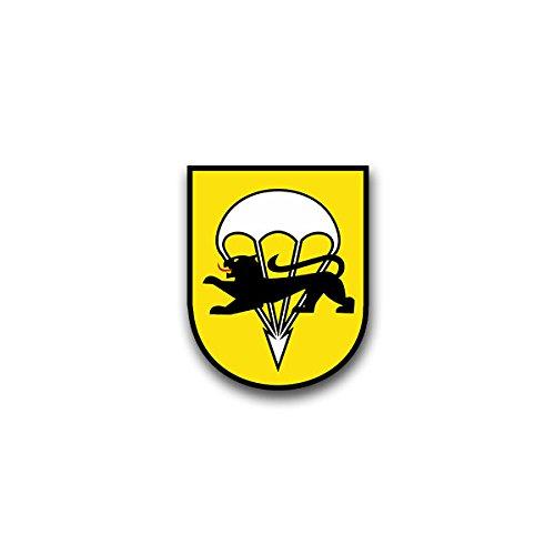 Copytec Aufkleber/Sticker - FschJgBtl 271 Fallschirmjäger Bataillon Iserlohn Bundeswehr Wappen Abzeichen Emblem passend für VW Golf Audi A4 Mercedes Benz (7x6cm)#A1319