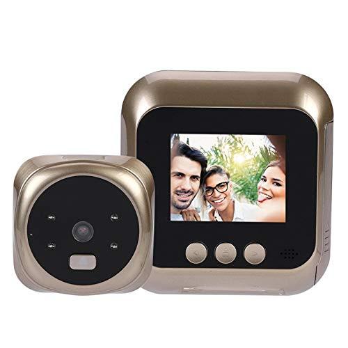 Timbre inteligente para el hogar con pantalla HD de 2,4 pulgadas timbre de video inteligente inalámbrica con Cámara HD de 300 mil píxeles Lente gran angular de 135 grados
