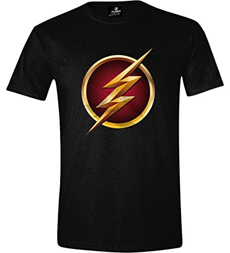 The Flash Logo 3D T-shirt noir, Noir, XX-Large