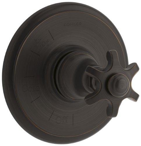 Kohler ts72767–3m-2bz artefactos Rite-temp Válvula Trim con clavijas de mango, Bronce aceitado
