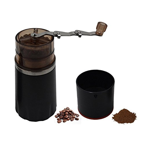 ZNZ Manual Coffee Grinder Filter Cup Coffee Brewer Portable Coffee Maker All-in-One Coffee Machine Cup for Travel Home Gift (Black)