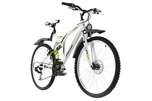 """KS Cycling Mountainbike ATB Fully 26"""" Zodiac weiß-grün RH 48 cm"""