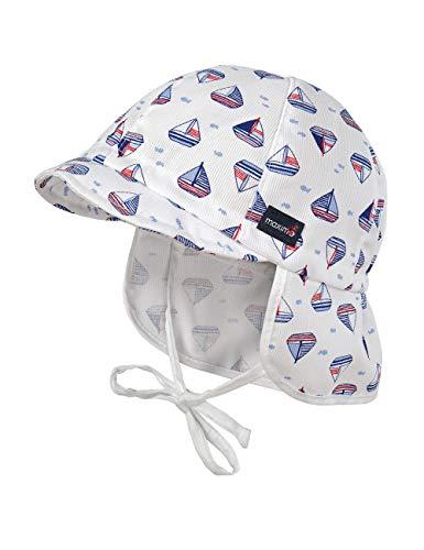 maximo Baby-Jungen Nackenschutz Mütze, Blau (Cerulean-weiß-Boote 70), (Herstellergröße: 47)