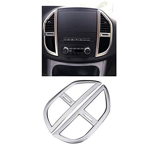 KUST für Vito W447 2014-2019 Innenverkleidung der Mittelkonsole Klimaanlage Entlüftungsauslass Abdeckung Verkleidung Autozubehör 2 Stück ABS Matt