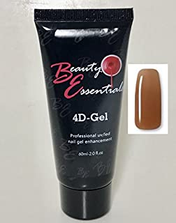 Beauty Essentials 4D-Gel - Professional UV/LED Nail Gel Enhancement (Compare to PolyGel) (Coffee)