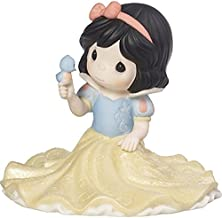 Precious Moments Disney Snow White Life Goes Along With With A A Smile And A Song Poreclain Figurine or Cake Topper 173093