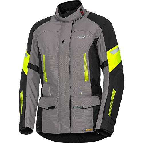 FLM Motorradjacke mit Protektoren Motorrad Jacke Damen Touren Textiljacke 3.0 gelb XL, Tourer, Ganzjährig
