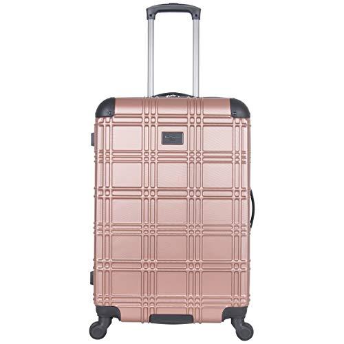 """Ben Sherman Luggage Nottingham 24"""" Embossed PAP 4-Wheel Luggage (Rose Gold)"""