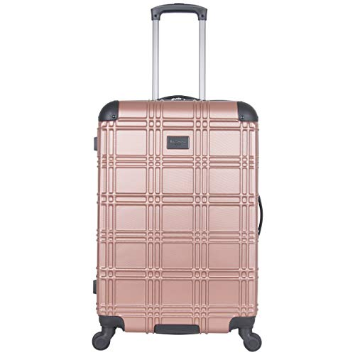Ben Sherman Luggage Nottingham 24' Embossed PAP 4-Wheel Luggage (Rose Gold)