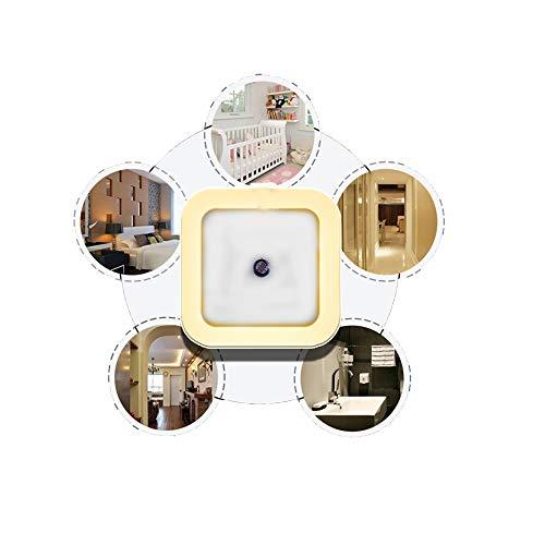 Luce Notte Led Intelligente JP-LED®【Con Sensore Crepuscolare】Luce Notturna Bambini 【Bianco Caldo】Per Camera,Soggiorno,Scale, Corridoio, Cucina, Garage, Bagno, Libreria, Cameretta Bimbi