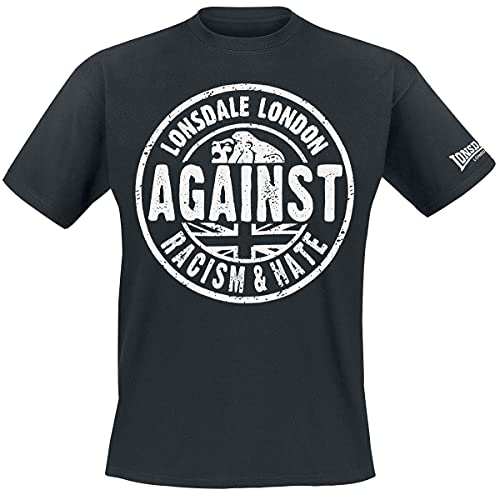 Lonsdale Herren Langarmshirt T-Shirt Trägerhemd Against Racism schwarz (Schwarz) X-Large
