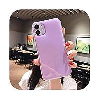 Rzuug iPhone11シャイニーフラッシュスタンド電話ケース11ProMax XR XS Max X XS 6S 7 8 Plus 11Pro SE2020キャンディーカラー裏表紙-T7-For iphone 11