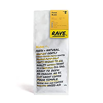 Rave Coffee - Fudge Blend - Freshly Roasted Whole Beans and Ground Coffee