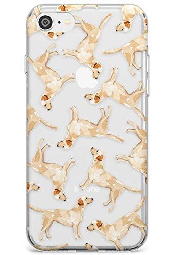 Reticolo Giallo Labrador acquerelli Dog Slim Cover per iPhone 6 TPU Protettivo Phone Leggero con Trasparente Animale Domestico Chiaro Amante dei