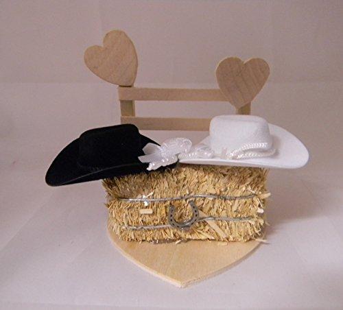 Western wedding Reception Party Birthday Redneck Cowboy Hats cake topper