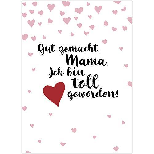 Postkarte Moderne Karte mit schönem Spruch/Moderne Karte mit Umschlag/zum Muttertag/für Mama