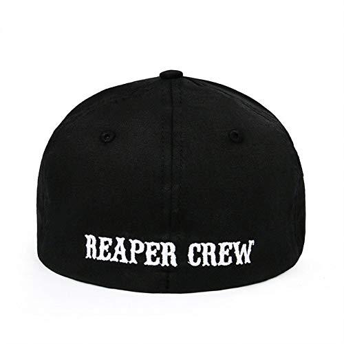 DGFB Hochwertige Baumwolle Hüte Für Männer Frauen Snapback SOA Sons of Anarchy Für Reaper Crew Ausgestattet Baseball Cap Hut Bestickt Papa Hut