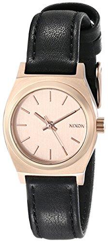 Nixon Damen-Armbanduhr Small Time Teller Analog Quarz Leder A5091932-00