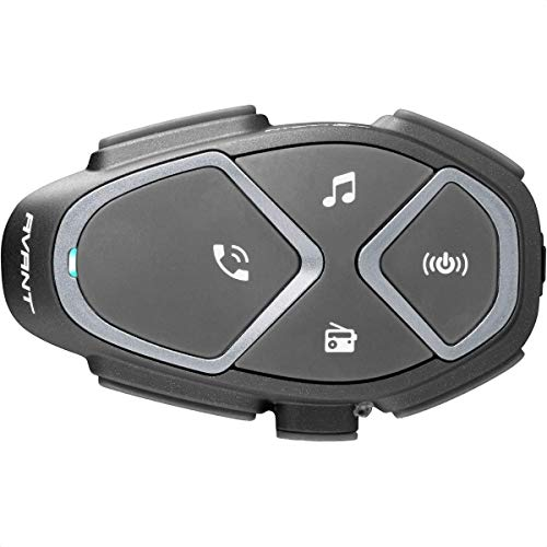 INTERPHONE INTERPHOAVANT Bluetooth Auriculares Manos Libres para Casco Moto Single, Negro