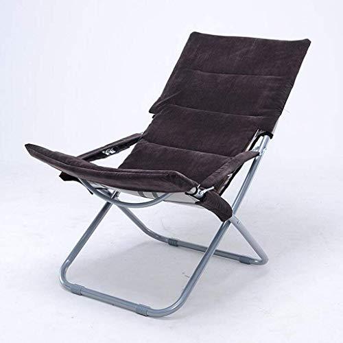 Yuany Chaise Rollsnownow Chaise Longue Gris foncé Pause déjeuner Pliante Chaise Longue Hiver et été Double Usage