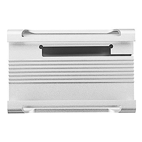 nbvmngjhjlkjlUK Scatola in Lega di Alluminio Conchiglia Protettiva Telaio della Scheda Madre del Computer con Ventola di Raffreddamento per Lampone Torta Guscio in Metallo 3B + (Bianco)