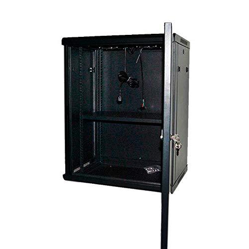 powergreen RAC-15645-HQ Armario Rack 15U 60X45 con Termostato 2 Ventiladores 1 Bandeja, Multicolor