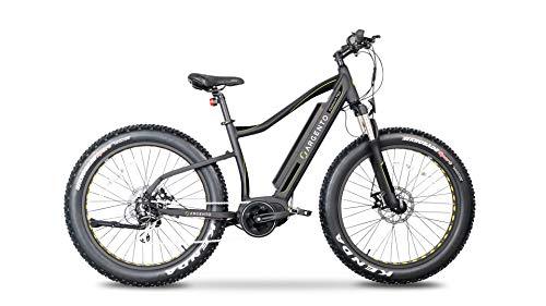 Argento Bicicletta elettrica Elephant PRO Fat Mountainbike, Ruote Unisex Adulto, Nero, taglia unica