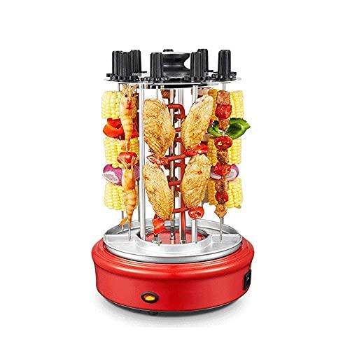 Parrilla Vertical giratoria automática sin Humo para Interiores 300 ℃ Parrilla asadora brochetas Kebab Horno Tostador infrarrojo Uso doméstico