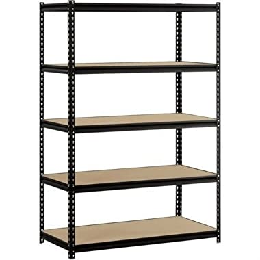 Heavy Duty Garage Shelf Steel Metal Storage 5 Level Adjustable Shelves Unit 72  H x 48  W x 24  Deep