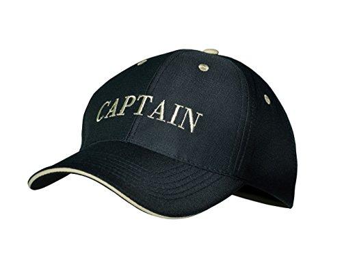 modAS Baseball Cap mit Schriftzug Kappe Schirmmütze Basecap, Aufdruck:Captain