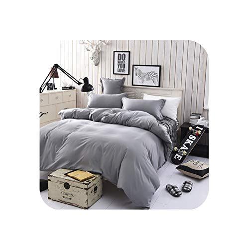 New Adult Bedding Zebra-Stripe Bedding Set Morden Duvet Cover Set King Queen Full Twin Size Bed linens Cotton Polyester,Silver Grey...