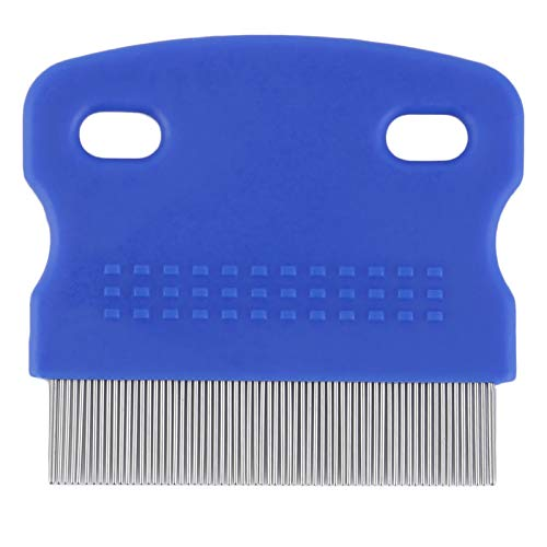BianchiPamela Pet Cat Dog Small Steel Fine Toothed Grooming Flea Comb Debris Removal Tool