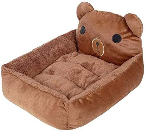 Deluxe cama del animal doméstico Camas lindo gato de dibujos animados Mats cálido y acogedor suave paño grueso y suave de la cama del sofá gatito for pequeñas mascotas Perros Gatos lavable Tamaño del