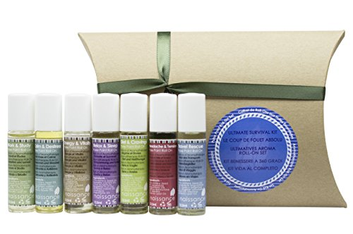 Naissance Aromatherapy Ultimate Survival Roll-On Pulse Points Gift Set - Stimulate Your Senses