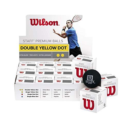 Wilson WRT617100 Balle de Squash, Staff, 1 Pièce,...