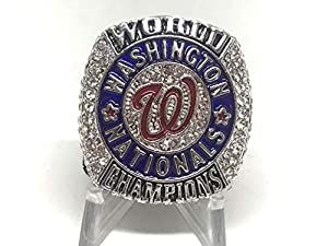 2019 Stephen Strasburg Washington Nationals High Quality Replica World Series Ring silver Color Size 8