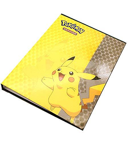 LSST Album Compatible with Pokemon GX EX Mega Cards, Binder Compatible with Pokemon Cards, Protector Sleeves Compatible with Pokemon Cards, Album Binder Compatible with Pokemon (160-Pikachu)