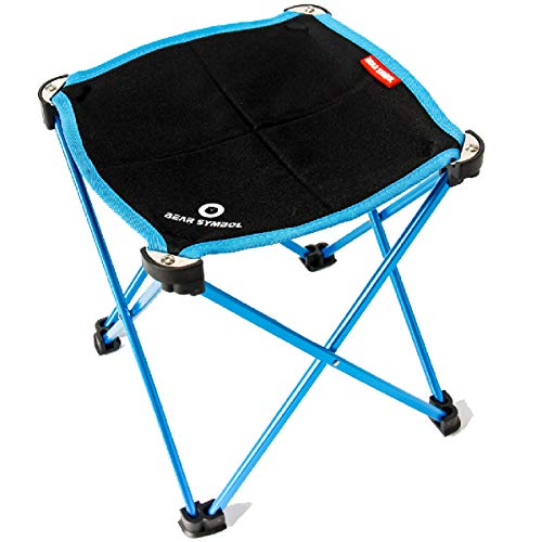 TRIWONDER Tragbare Camping Hocker, Outdoor Klappstuhl Slacker Stuhl für Camping Backpacking Wandern Angeln Reisen Garten BBQ mit Trage Sack (Blau)