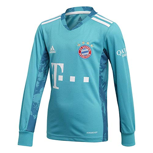 adidas Kinder 20/21 FC Bayern Goalkeeper Jersey Torwarttrikot, Labgrn, 176