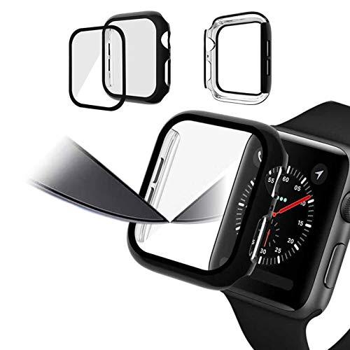 Funda Protectora Mate Brillante Funda Protectora de Vidrio 3D antihuellas para iWatch Bumper para Apple Watch Series SE 6 5 4 3 44 / 40mm 42 / 38mm