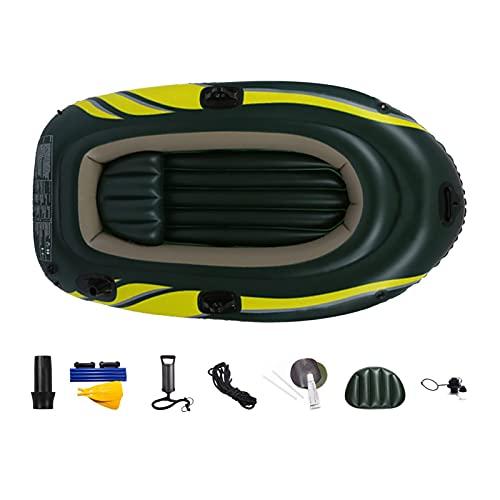 L1YAFYA Aufblasbarer Boot Kayak Canoe Fischerboot Kanu Rudern Luft Doppelventil Drifting Tauchen Inflata Pool Fischerboot Gummiboot (Color : Green)