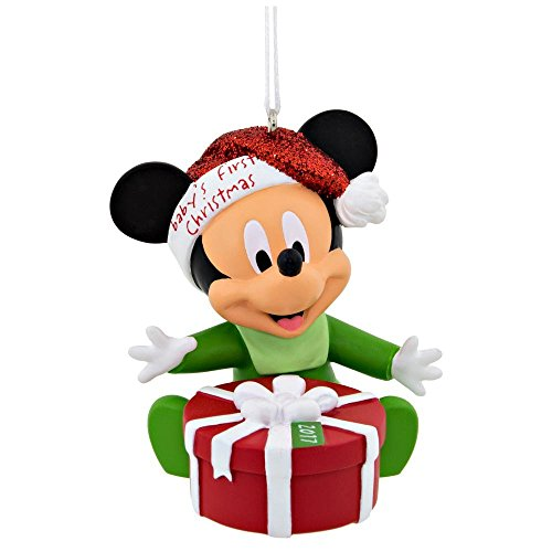 Hallmark Disney Mickey Mouse 2017 Baby's 1st Christmas Ornament