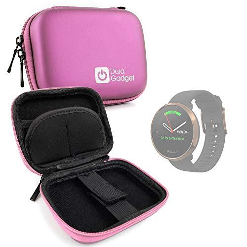 DURAGADGET Estuche Rígido Compatible con Smartwatch Suunto Spartan Sport Wrist HR, Suunto 9 Baro, Polar Ignite, Montblanc Summit 2 - Rosa