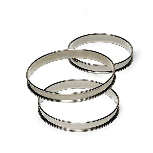 Gobel 834990 Cercle à Tarte Haut Inox Bords roulés 28 cm