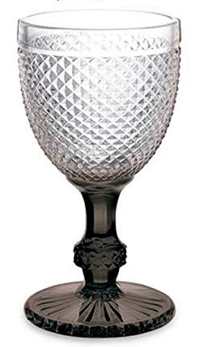 ARTE REGAL Copa de Vino de Cristal pie Negro Medidas 8,8 x 8,8 x 16,4 cm. Capacidad 30 cl
