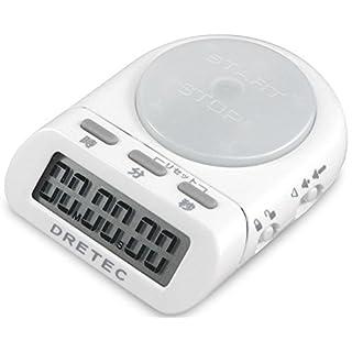 dretec(ドリテック) 学習用デジタルタイマー 99時間59分59秒 タイムアップ 勉強 時間管理 ホワイト T-186WT