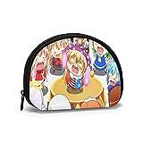 Anime Himouto Umaru Chan Shell bolsa de almacenamiento para mujeres y niñas linda moda con cremallera monedero monedero bolsa de cambio multifunción