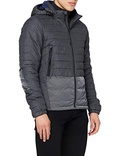 Scotch & Soda Herren Short Quilted Nylon Jacket with Detachable Hood Jacke, Schwarz (Black 0008), X-Large